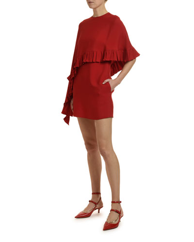 Draped Cape Jersey Dress