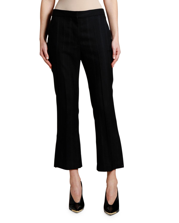 Stella Mccartney Pants PINSTRIPED WOOL CROP TROUSERS