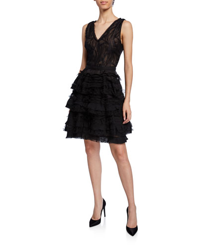75e15a3dee1 Water Lace V-Neck Cocktail Dress
