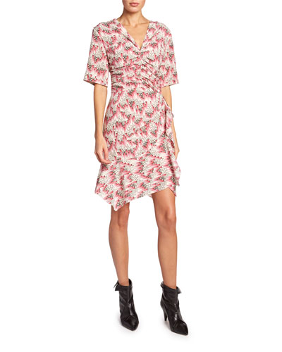 Floral Mini V-Neck Dress