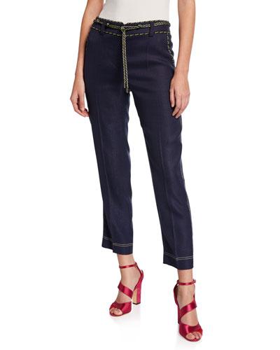 High-Waist Tailored Pants