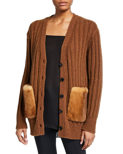 Wool-Cashmere Oversized Cardigan