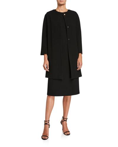 Wool Crepe Coat