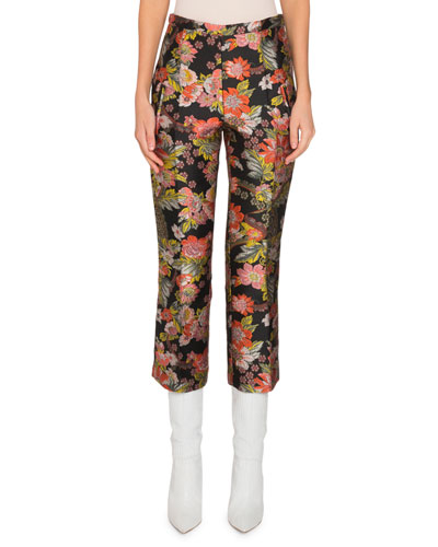 Jacquard Cropped Pants