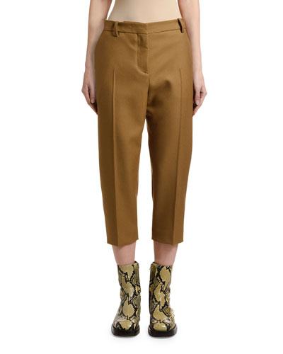 Cropped Wool Pants