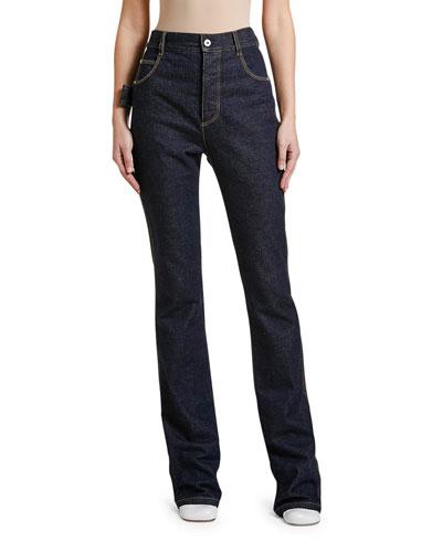Mid-Rise Wide-Leg Jeans