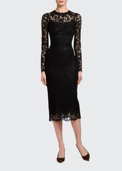 Heavy-Lace Cocktail Dress