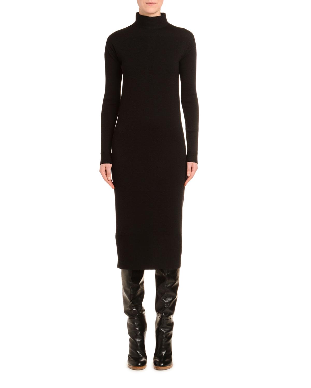 Agnona Dresses MOCK-NECK WOOL PENCIL DRESS