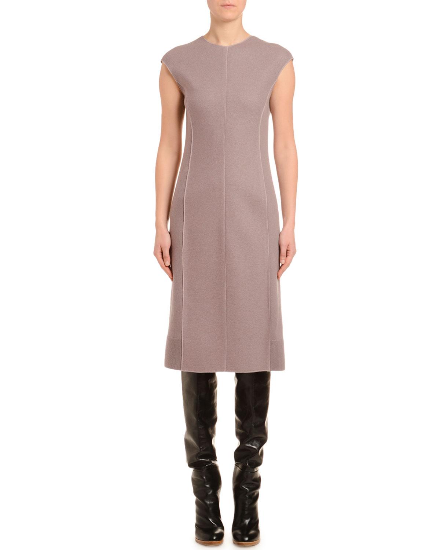 Agnona Dresses CASHMERE-JERSEY CAP-SLEEVE PENCIL DRESS