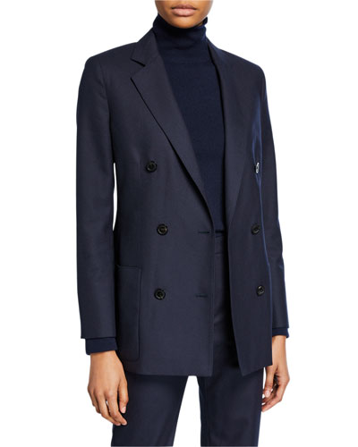Wool-Flannel Double-Breasted Jacket