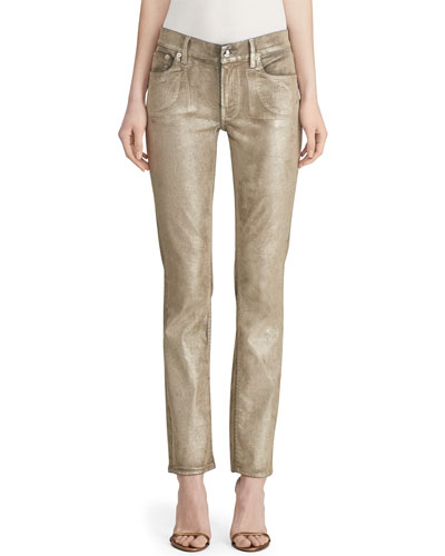 Metallic Painted Skinny Jeans