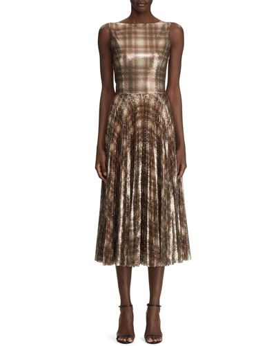 Arwen Embellished Plaid Dress