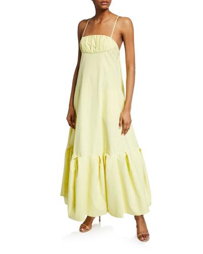Ruffled Cami Ruffle-Hem Dress