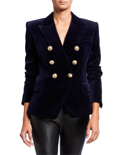 Velvet 6-Button Blazer Jacket