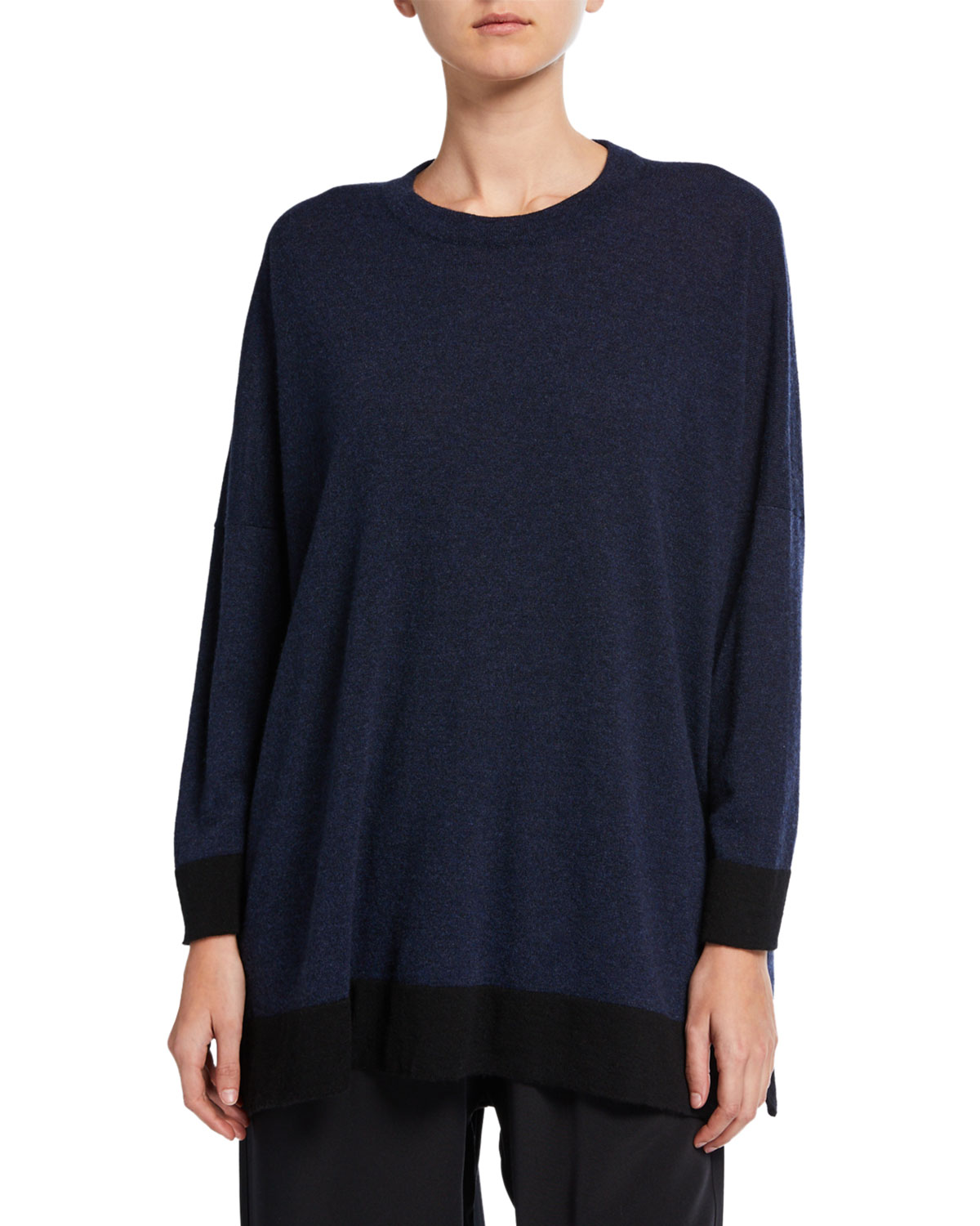 Eskandar Sweaters CASHMERE WIDE SWEATER