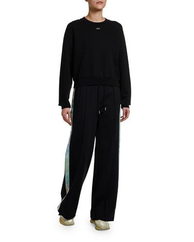 Long-Sleeve Crystal Sweatshirt