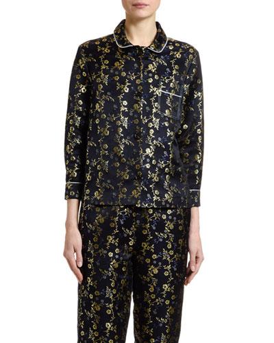 Floral Brocade Shirt
