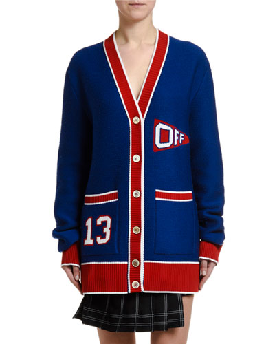 V-Neck Flag Cardigan