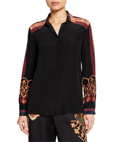 Engineered Print Silk Shirt