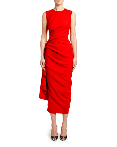 ed6413b11b1ca Ruched Crepe Cocktail Dress Quick Look. Alexander McQueen