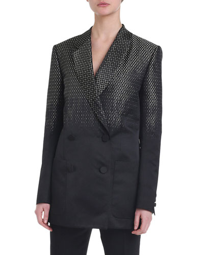Jacquard Ombre Double-Breasted Jacket