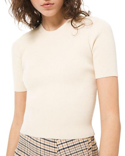Ribbed Crewneck Sweater Tee