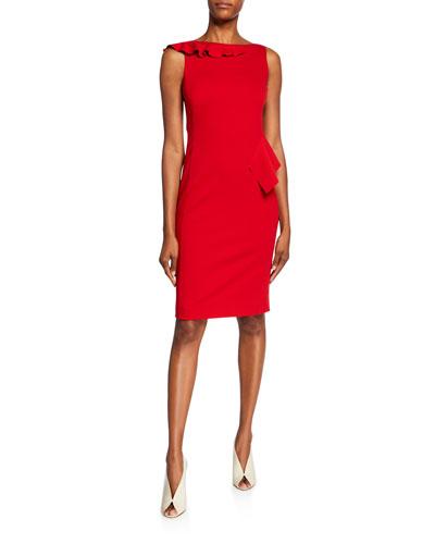 Jersey Sleeveless Ruffle Dress