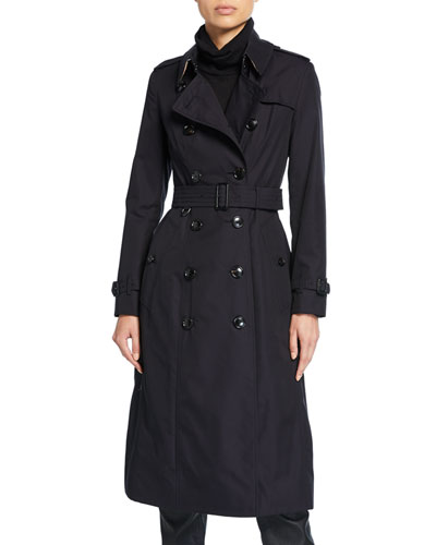 Long Chelsea Fitted Cotton Trench Coat
