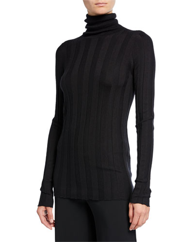 Inez Cashmere-Silk Turtleneck Sweater