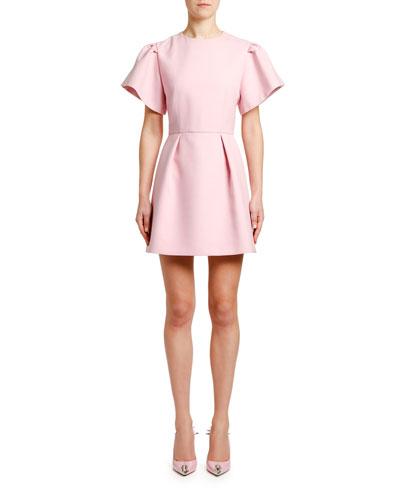 4d7c5600ac3 Puff-Sleeve Fit-and-Flare Mini Dress