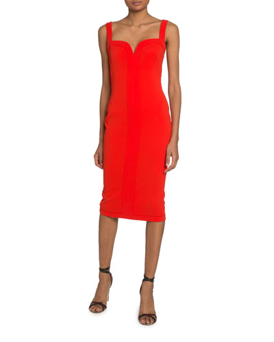 Sweetheart Bodycon Midi Dress