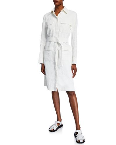 Loeb Linen Belted Shirtdress