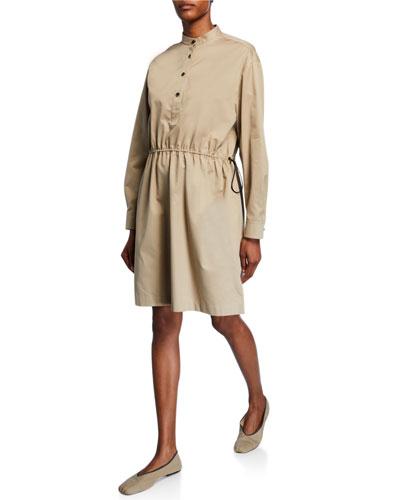 Uri Cotton Utility Shirtdress