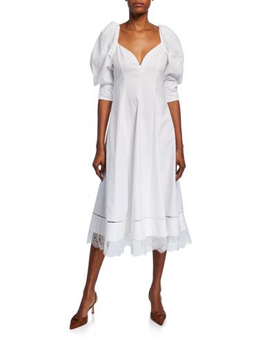 Dina Sweetheart-Neck Cocktail Dress