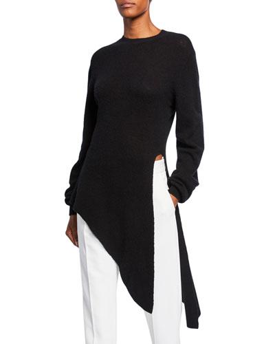 Esme Cashmere Draped Asymmetric Sweater