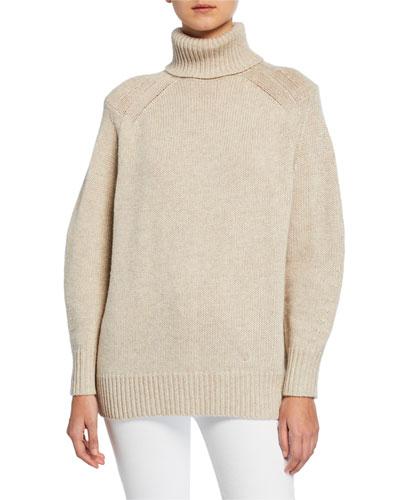 Raglan-Sleeve Turtleneck Sweater