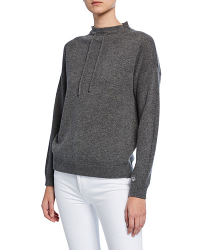 Cashmere Mock-Neck Sweatshirt