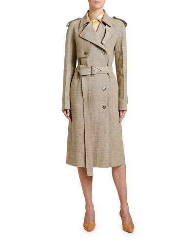 Lightweight Linen Trench Coat