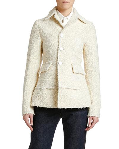 Bonded Boucle Single-Breasted Jacket