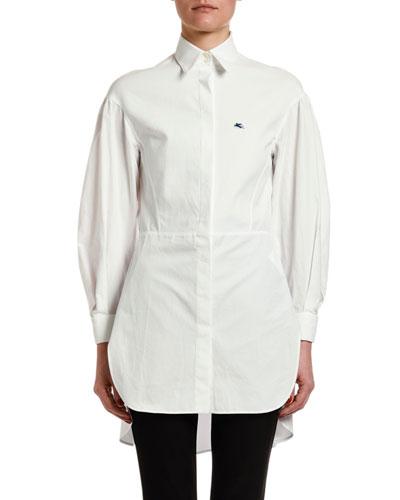 Seamed-Waist Cotton Tunic