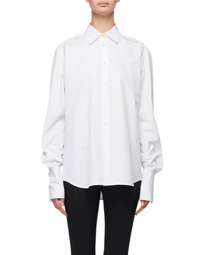 Pia French-Cuff Cotton Shirt