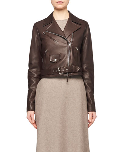 Perlin Leather Moto Jacket