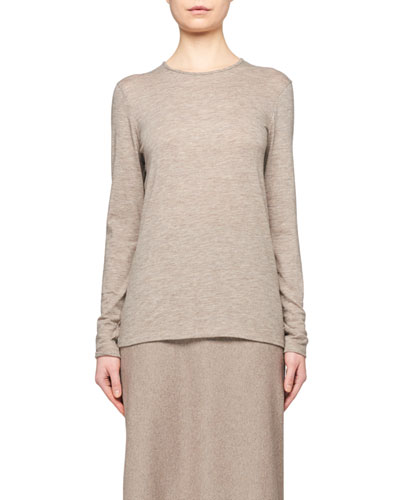 Tabor Cashmere Jersey Long-Sleeve Top
