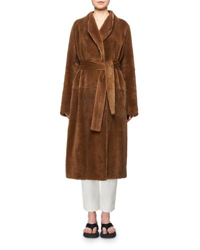 Terin Mink Fur Wrap Belted Coat