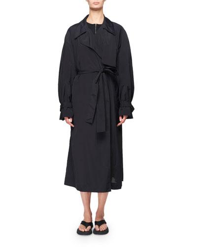 Kereem Taffeta Belted Trench Coat