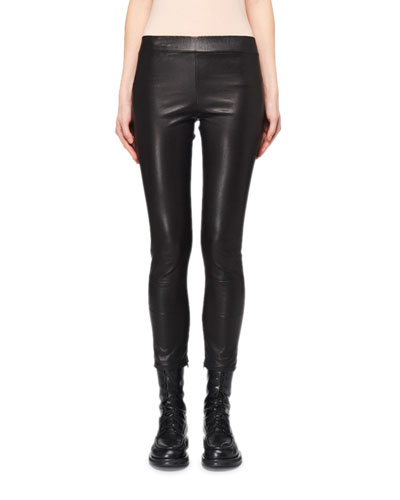 Mino Cropped Leather Leggings