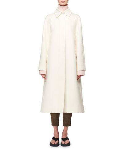 Duru Stretch Cotton Midi Coat