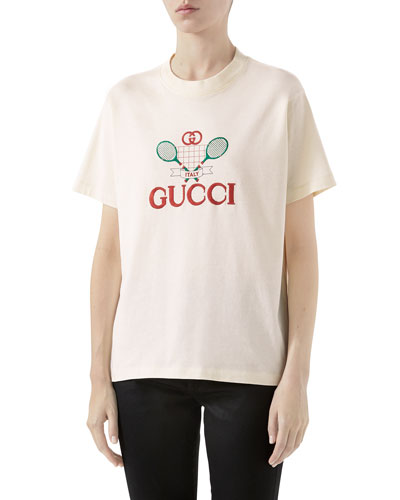 5d0546b9 Tennis Graphic T-shirt Quick Look. Gucci