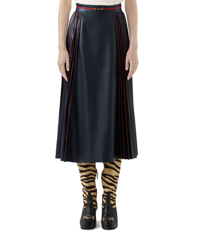 French Plonge Leather Skirt