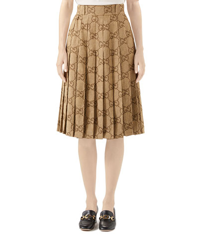 d7ffccdb1a5a GG Linen Jacquard Box Pleated Skirt